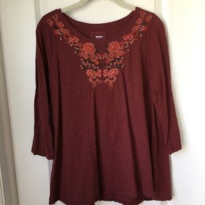 Sonoma Tunic Top With Embroidery